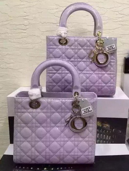 Dior Small Lady Dior Bag Patent Leather CD5502 Lavender