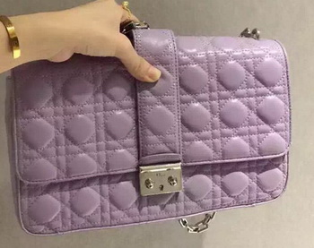 MISS DIOR Sheepskin Leather Shoulder Bag CD5504 Lavender