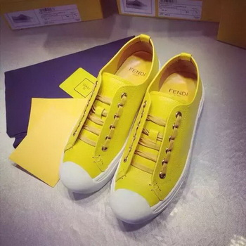 Fendi Casual Shoes FD88 Yellow