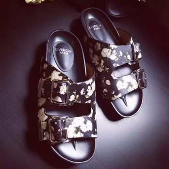 Givenchy Slipper Leather GI33 OffWhite&Black