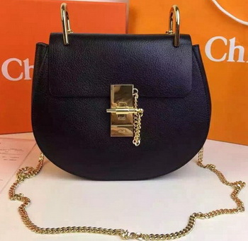 CHLOE Drew Shoulder Bags Calfskin Leather CO2709 Black