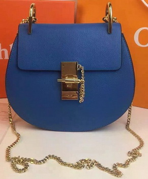 CHLOE Drew Shoulder Bags Calfskin Leather CO2709 Blue
