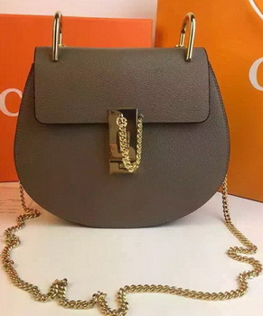 CHLOE Drew Shoulder Bags Calfskin Leather CO2709 Grey