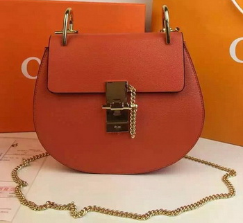 CHLOE Drew Shoulder Bags Calfskin Leather CO2709 Orange