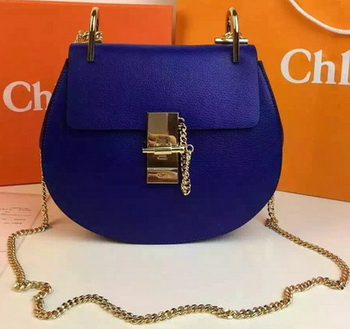 CHLOE Drew Shoulder Bags Calfskin Leather CO2709 Royal