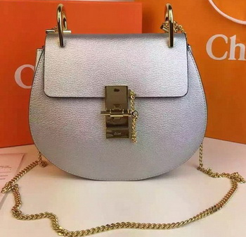 CHLOE Drew Shoulder Bags Calfskin Leather CO2709 Silver
