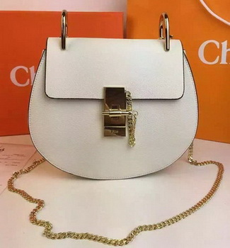 CHLOE Drew Shoulder Bags Calfskin Leather CO2709 White