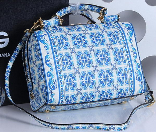 8750cd39727d Dolce   Gabbana MAJOLICA Print Butterfly Leather Bag BG4152 Blue ...