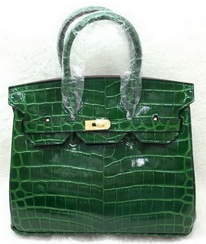 Hermes Birkin 25CM Tote Bag Croco Leather H25TCO Green