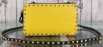 Valentino Garavani Cross Body Bag Calfskin Leather VO84495 Yellow