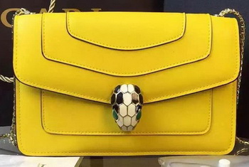 BVLGARI Small Shoulder Bag Calfskin Leather BG5573 Yellow