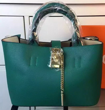 CHLOE Calfskin Leather Tote Bag C33459 Green