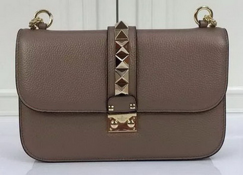 Valentino Garavani Shoulder Bag Original Leather VO1914 Khaki