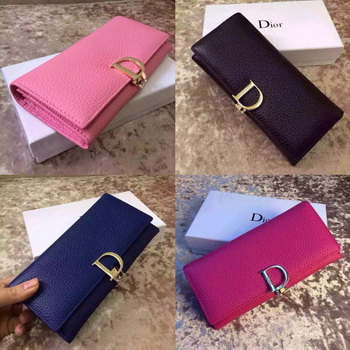 Dior BiFlod Wallet Calfskin Leather D4259