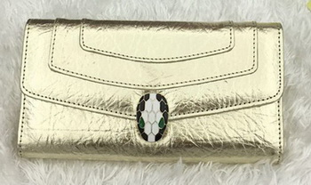 BVLGARI Wallet Pochette in Calf Leather BG1243 Gold
