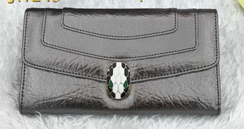 BVLGARI Wallet Pochette in Calf Leather BG1243 Silver