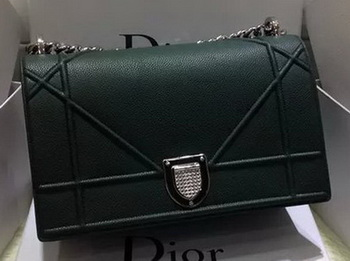 Dior Diorama Bag Original Leather CD12L Green
