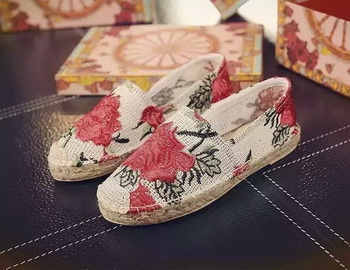 Dolce & Gabbana Casual Shoes D&G64 Red&OffWhite