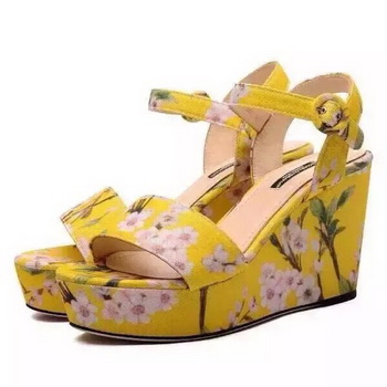 Dolce & Gabbana Weges Sandals D&G75 Yellow