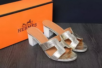 Hermes Slipper Leather HO0518 Gold