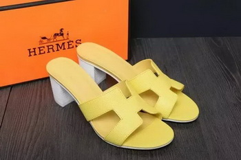 Hermes Slipper Leather HO0523 Yellow