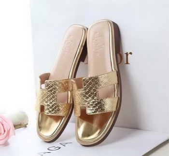 Hermes Slipper Leather HO0532 Gold