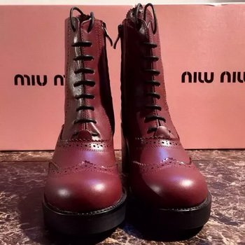 miu miu Ankle Boot MM394 Burgundy