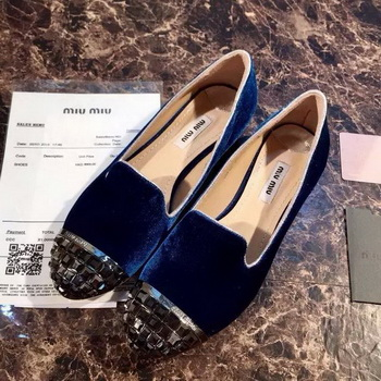 miu miu Ballerina Flat MM376 Royal