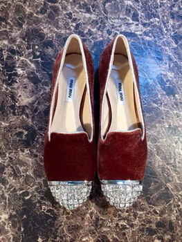 miu miu Ballerina Flat MM378 Brown