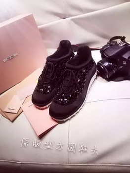 miu miu Casual Shoes MM365 Black