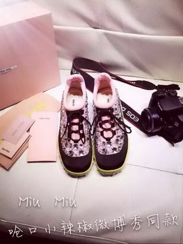 miu miu Casual Shoes MM366 Black