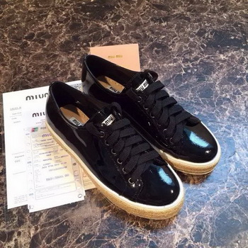 miu miu Casual Shoes MM382 Black