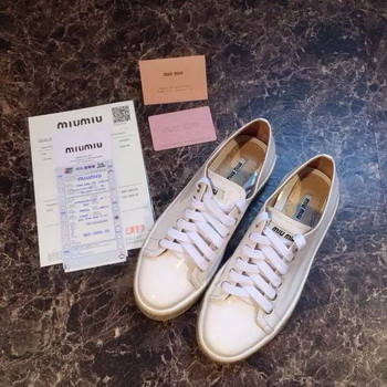 miu miu Casual Shoes MM383 White