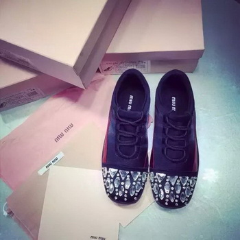 miu miu Casual Shoes MM384 Black