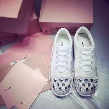 miu miu Casual Shoes MM385 White