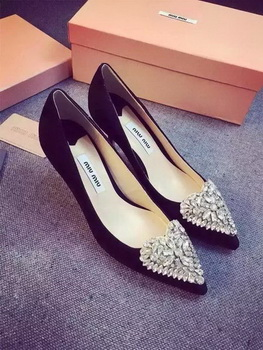 miu miu Suede Leather Pump MM388 Black