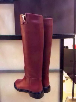 Louis Vuitton Leather Boot LV555 Burgundy