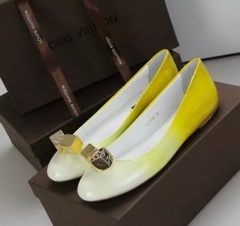 Louis Vuitton Leather Flat LV509 Yellow
