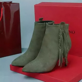Valentino Ankle Boot Leather VT690 Khaki