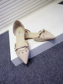 Valentino Leather Flat VT578 Apricot