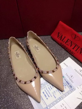 Valentino Leather Flat VT666 Apricot