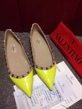 Valentino Leather Flat VT666 Yellow