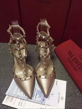 Valentino Leather Pump VT583 Gold