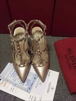 Valentino Leather Pump VT585 Gold