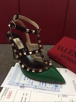 Valentino Leather Pump VT592 Green