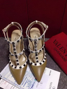 Valentino Leather Pump VT650 Khaki