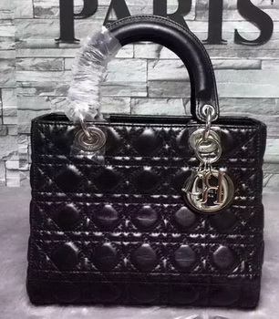 Dior Small Lady Dior Bag Sheepskin Leather CD6322 Black