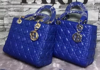 Dior Small Lady Dior Bag Sheepskin Leather CD6322 Blue