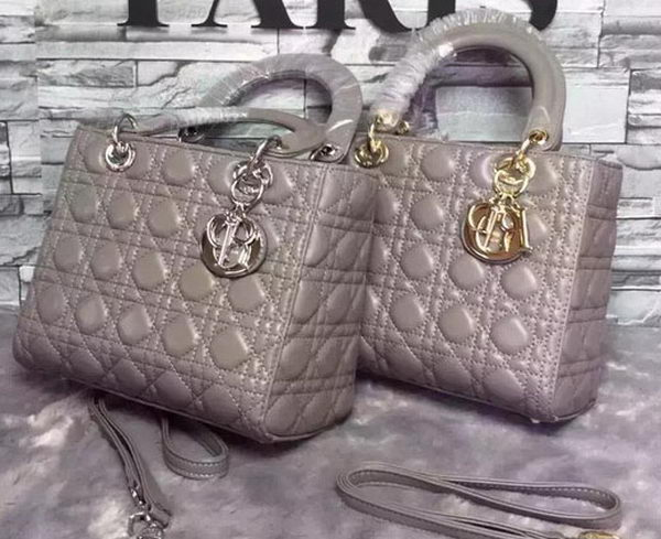 Dior Small Lady Dior Bag Sheepskin Leather CD6322 Grey