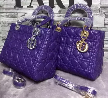 Dior Small Lady Dior Bag Sheepskin Leather CD6322 Violet